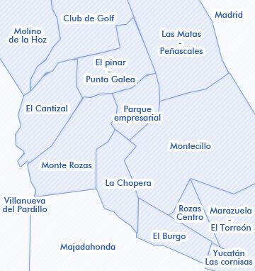 mapa de Las Rozas de Madrid Madrid venta de viviendas
