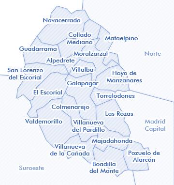 mapa de Madrid Noroeste venta de viviendas  madridviviendacom
